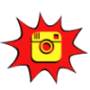 social media instagram comic book icon